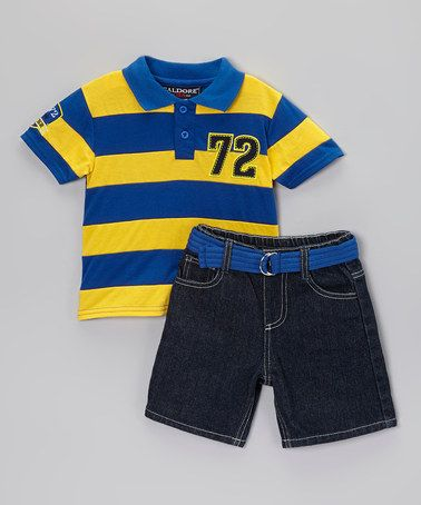 Loving This Royal Blue Yellow Polo Belted Shorts