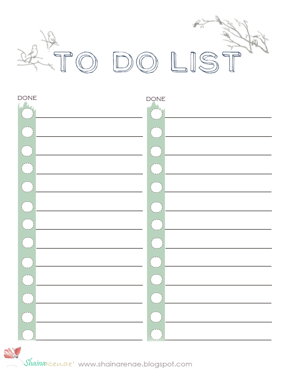 Rejoicing In The Rain To Do List Printable To Do Lists Printable To Do List Handy Dandy