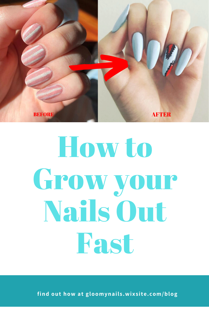 Learn how to grow your nails out fast! Have you ever wanted naturally long, luxurious nails? Then this is the right blog for you! #blog #nails #nailblogger  #longnails