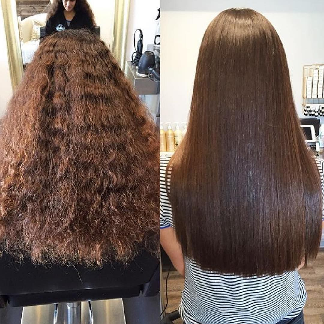 25 Stunning Brazilian Blowout Hairstyles Unbelievable Before And After In 2020 Frizz Free Hair Thick Hair Styles Brazilian Blowout Hairstyles