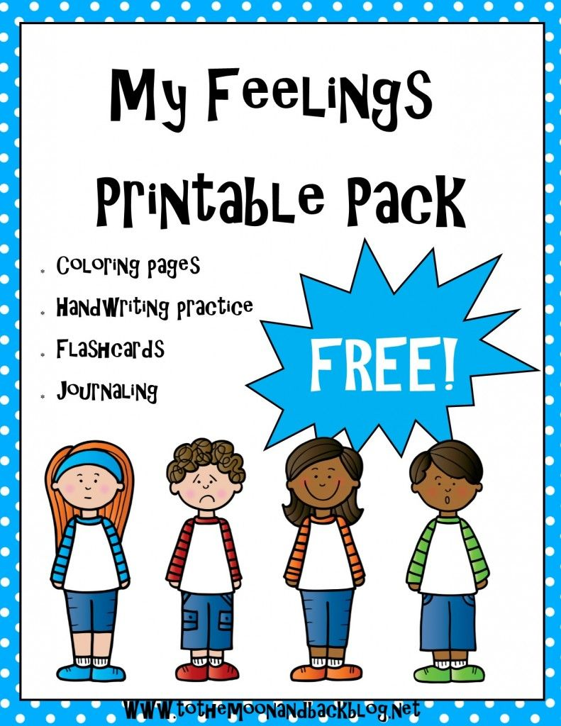 FREE Feelings Printables {15 Pages | Ssw, Gefühle und Emotionen