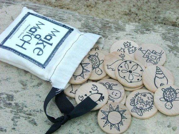 This little Make a Match Memory Game is compact enough to fit into your purse, backpack, or even your pocket. The perfect play toy for picnics, play dates, or rainy days, this is a classic, multi-gene