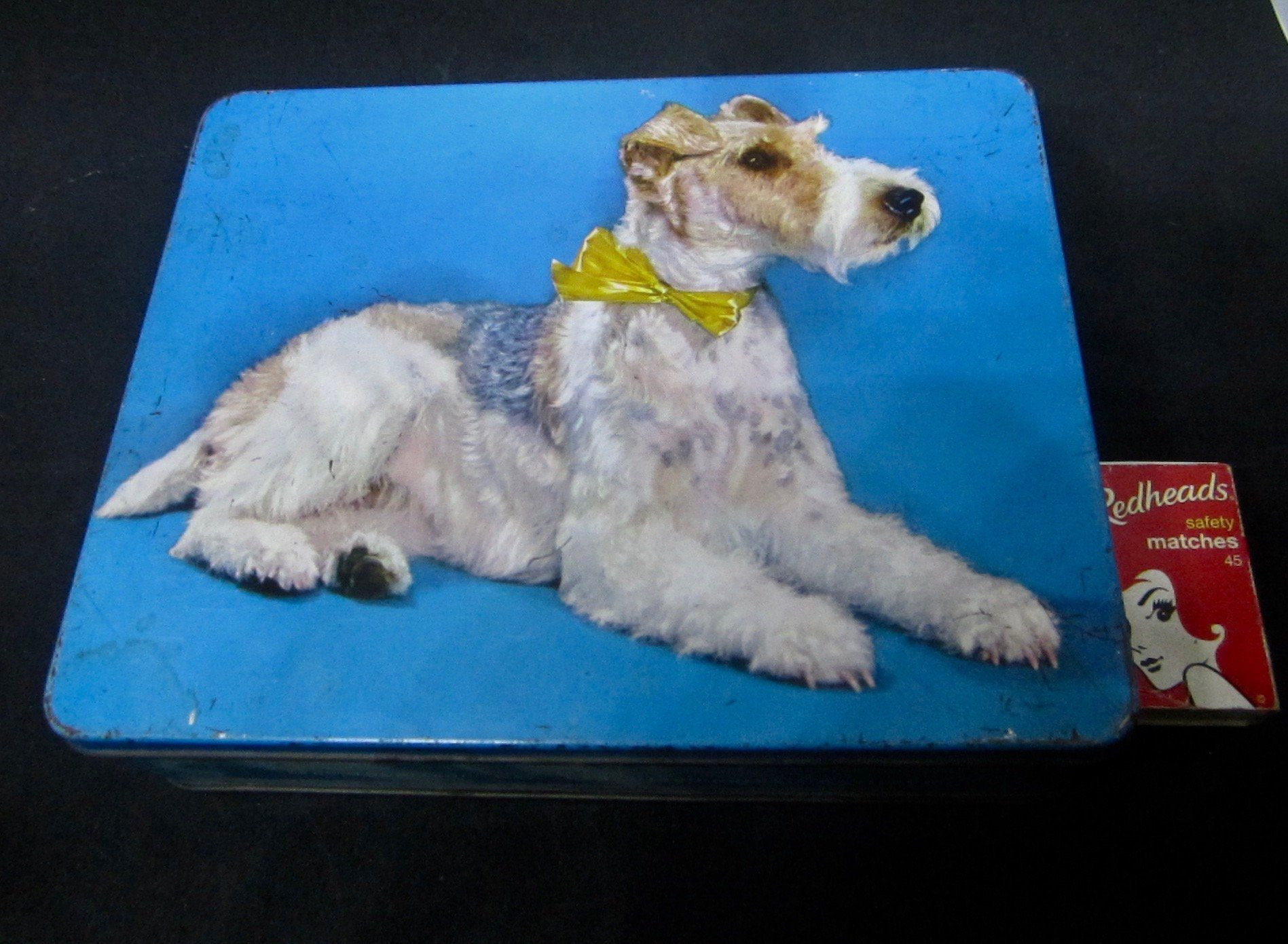Australian Sweets Tin With Airedale Dog Macrobertson S Sweets Melbourne Vintage Confectionery Tin By Thehungrywh Airedale Dogs Australian Sweets Vintage