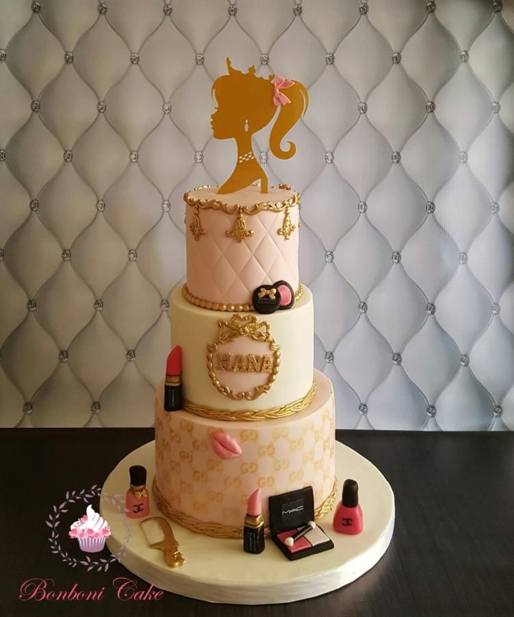 Makeup princess cake by Bonboni Cake Cakes Cake Decorating