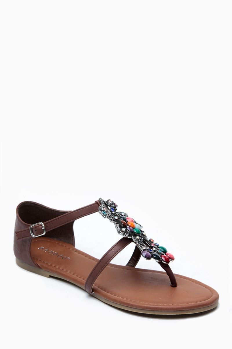 Bamboo Embelished Gem Sandals @ Cicihot Sandals Shoes online store sale:Sandals,Thong Sandals,Women's Sandals,Dress Sandals,Summer Shoes,Spring Shoes,Wooden Sandal,Ladies Sandals,Girls Sandals,Evening Dress Shoes
