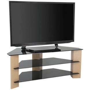 Buy Avf Up To 55 Inch Tv Stand Black Glass And Oak Effe Tv