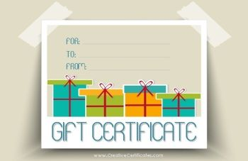 Free Printable And Editable Gift Certificate Templates  Vintage