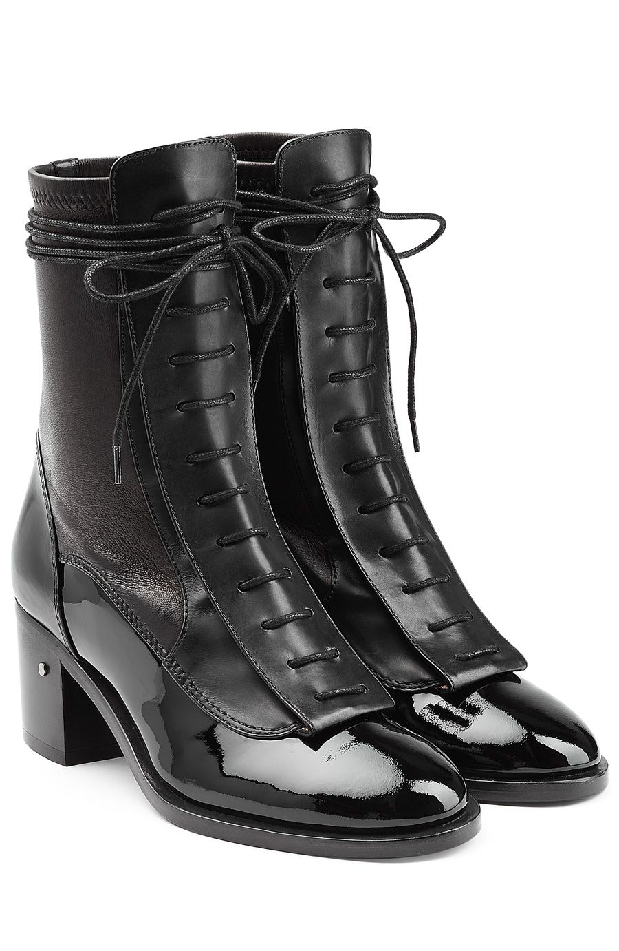 0Bottines en en detail cuir lacets Bottines cuir m0nvwN8