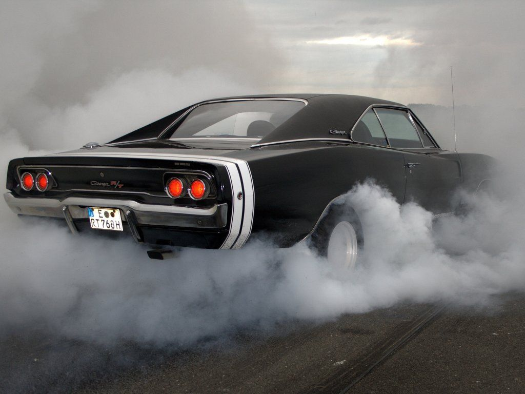 Dodge Charger R T Muscle Car Rear Smoke Wallpaper Cars