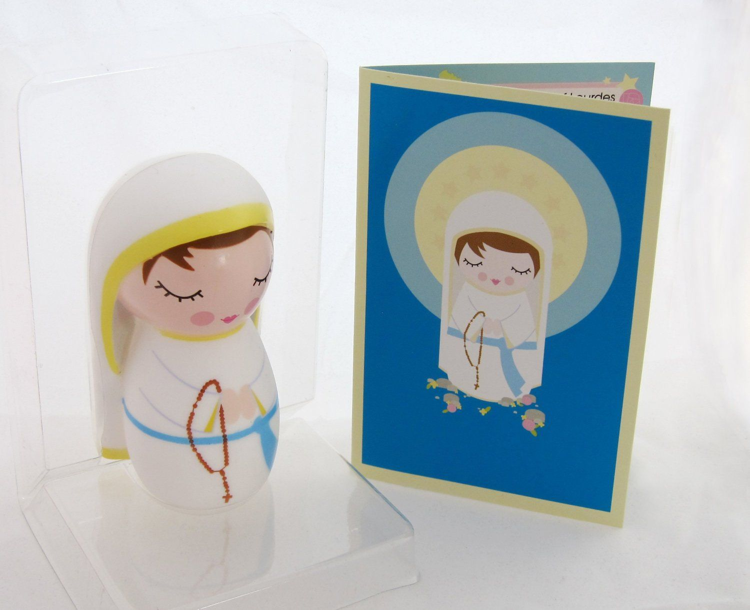 Amazon.com: Our Lady of Lourdes Collectible Vinyl Doll: Toys & Games; Collectible Catholic doll, great Christian toy! Our Lady of Lourdes of France, with prayer and story card
