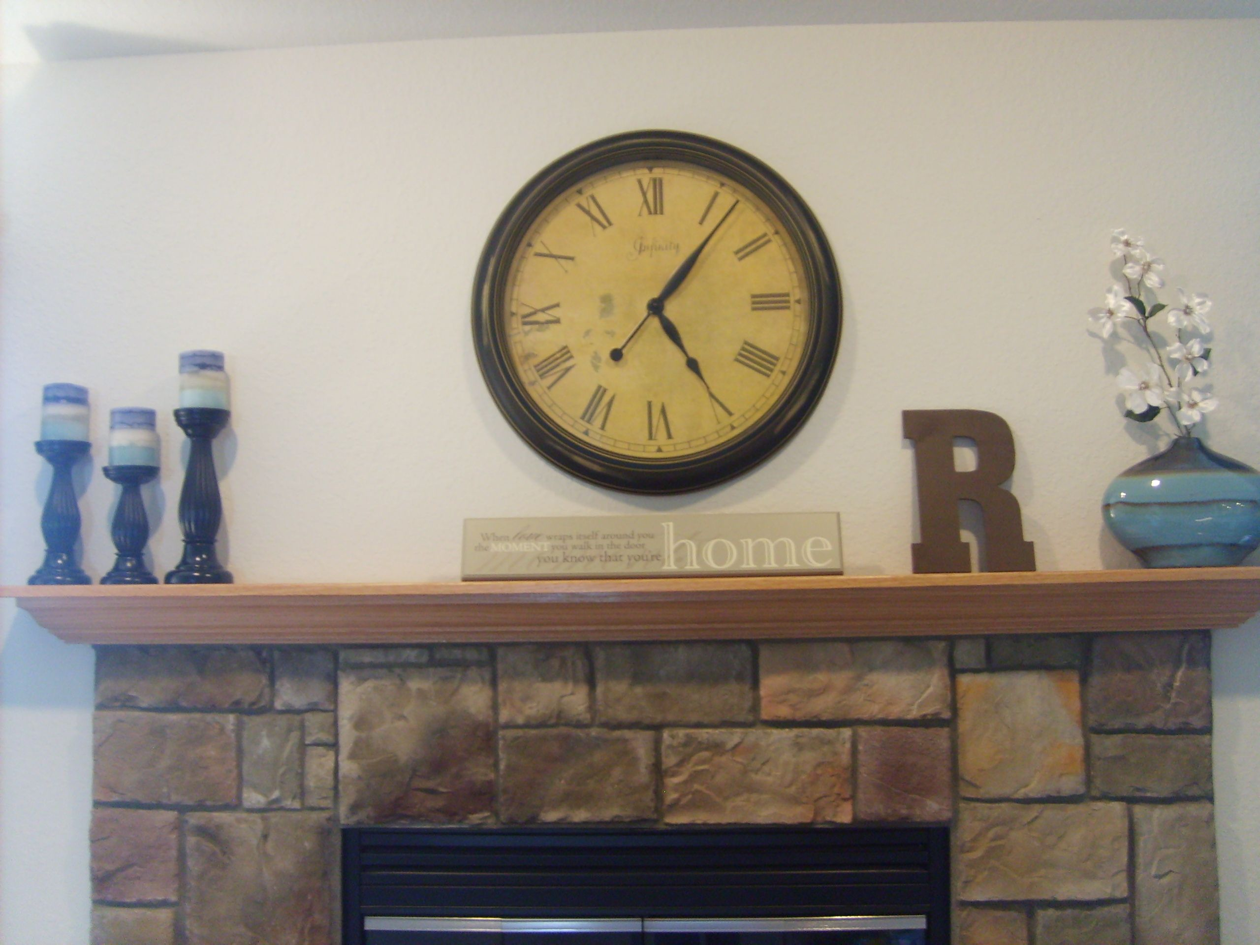 Clock Over Fireplace Fireplace Decor Decor Home Decor