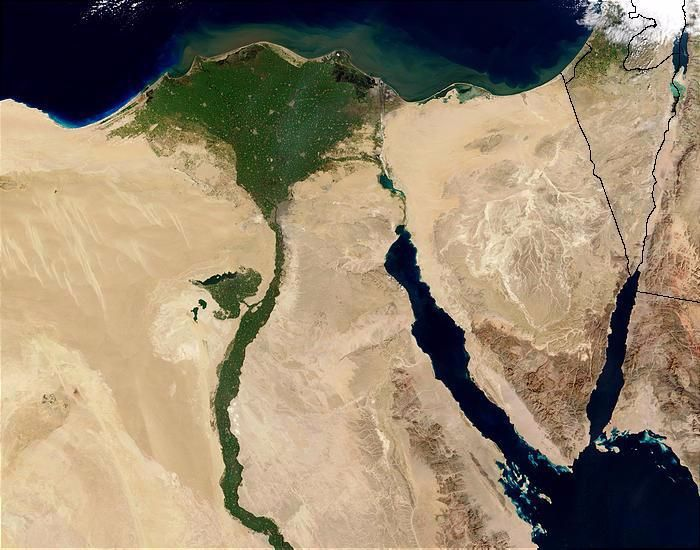 Nile Delta From Space. Photo by Jacques Descloitres in 2003 (MODIS Rapid Response Team, NASA/GSFC)