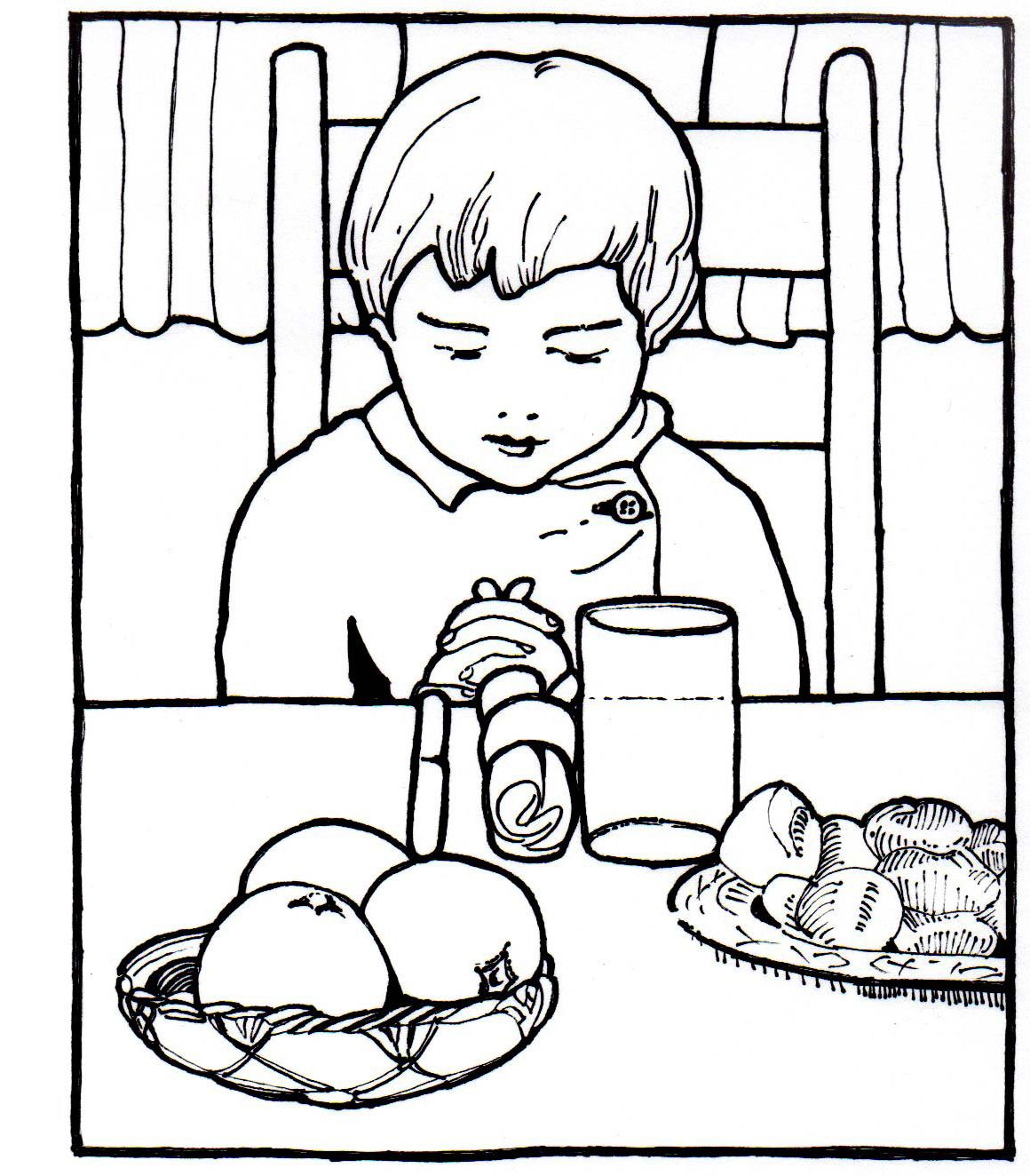 for the thank you jesus songrhyme christian coloring pages for kids - A Child God Coloring Page