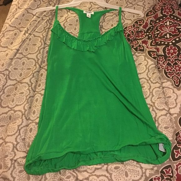 Kelly green tank top ! Worn once ! Awesome condition ! Has an elastic bottom. Old Navy Tops Tank Tops