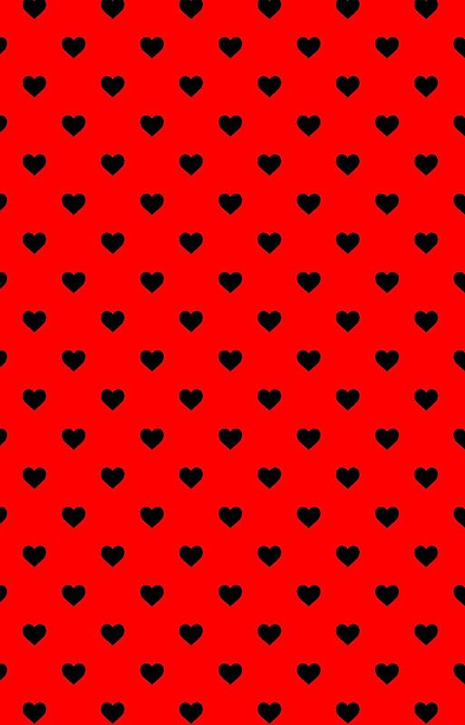 Black Polka Dot Hearts On Red Background Iphone 11 Soft By Honorandobey Hot Pink Background Hot Pink Wallpaper Polka Dots Wallpaper