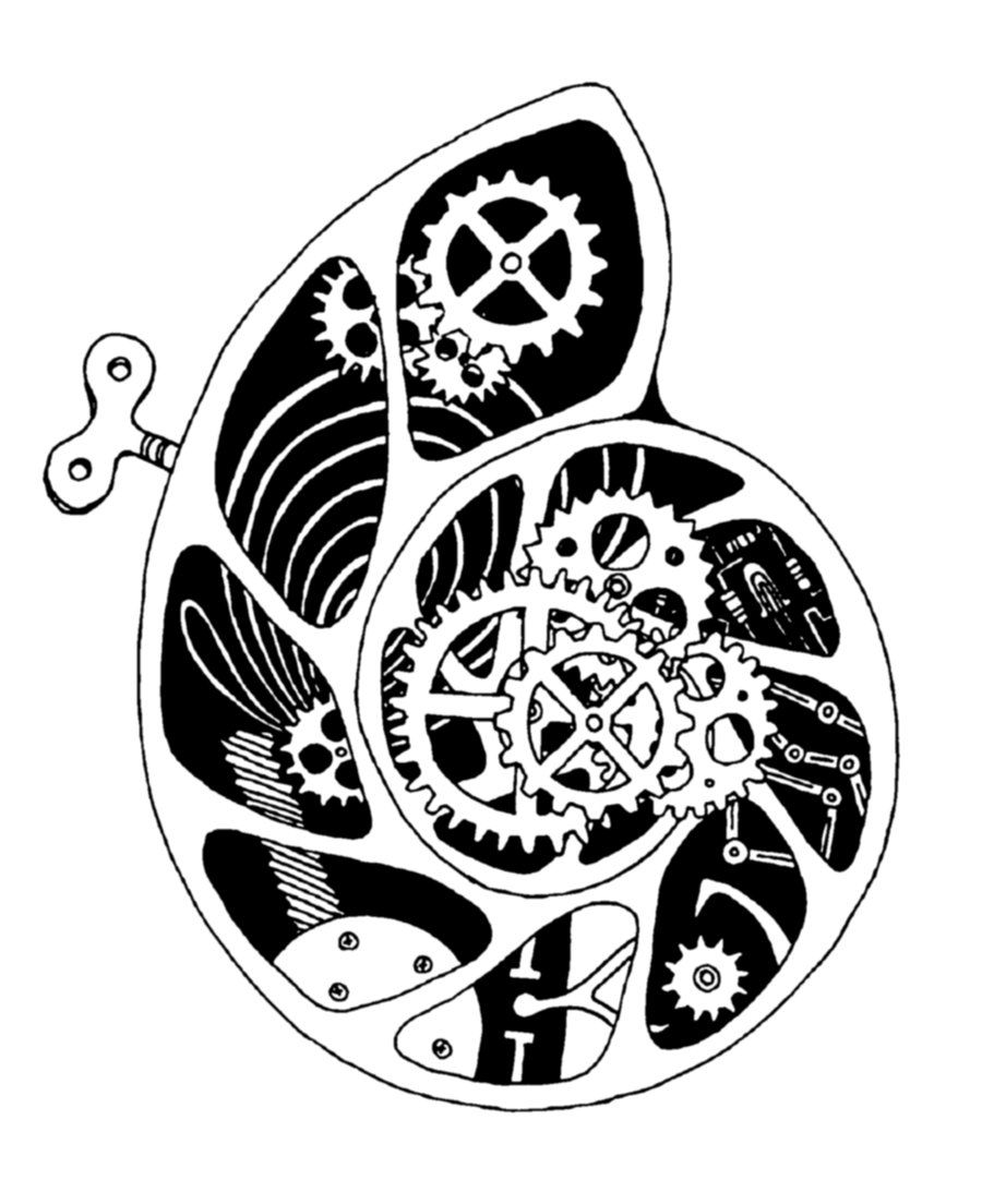 Clockwork Drawing Il testo scritto � un