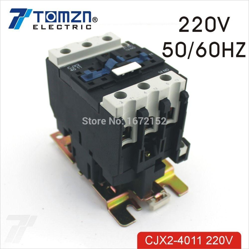Cjx2 4011 Ac Contactor Lc1 40a 220v 50hz  60hz