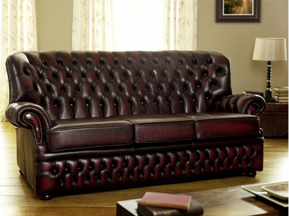 Dark Red Leather Sofa | Leather sofa, Best leather sofa ...