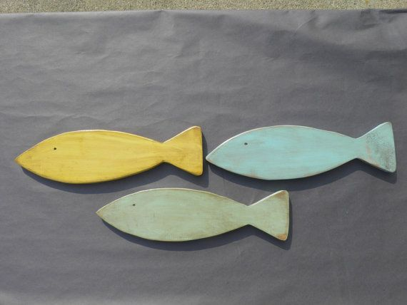 Family of 3 Fish for wall or fence hanging