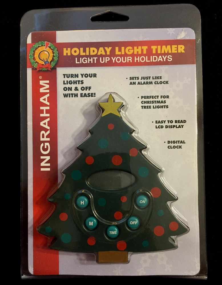 christmas tree lights timer ingraham holiday light timer lcd display new nip ingraham