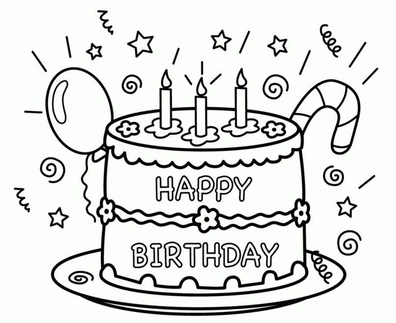 Kostenlos Druckbare Alles Gute Zum Geburtstag Ausmalbilder Pusat Hobi Alles In 2020 Happy Birthday Coloring Pages Birthday Coloring Pages Happy Birthday Printable