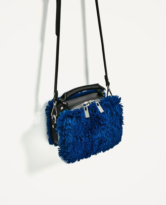 Image 3 Of Faux Fur Crossbody Bag From Zara