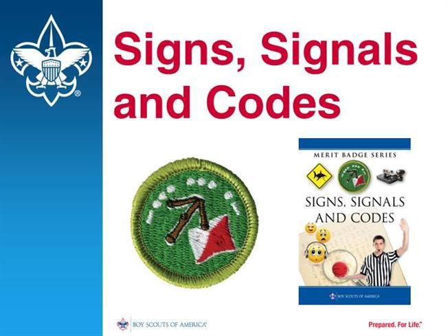 Signs Signals And Codes Merit Badge By Boyscouts Via