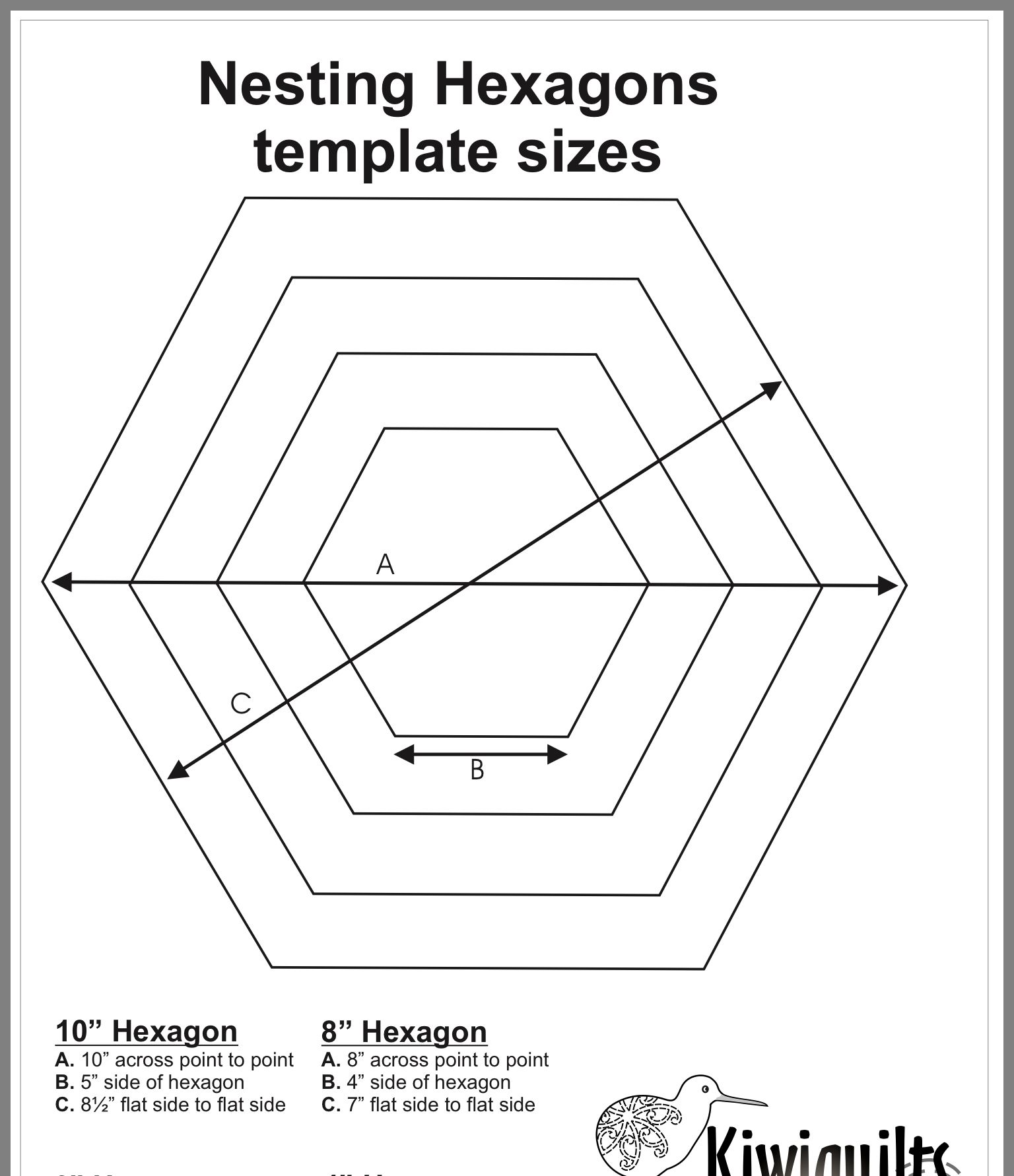 Pin By Marianne On Template Hexagon Flowers With Images