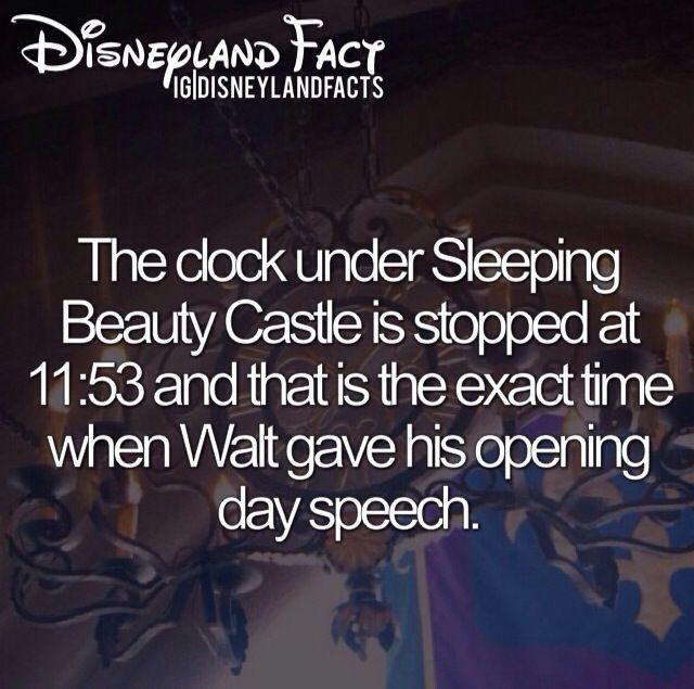 Disneyland Fact The Clock Under Sleeping Beauty 39 S Castle