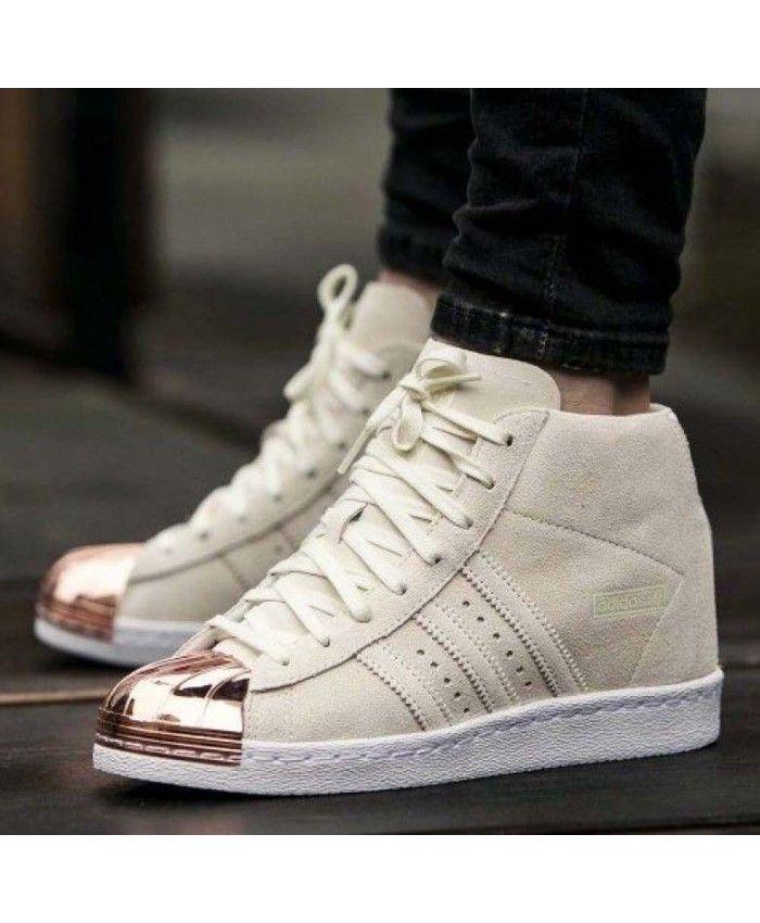 Adidas Superstar High Top Metal Moda barato Adidas la Trainer