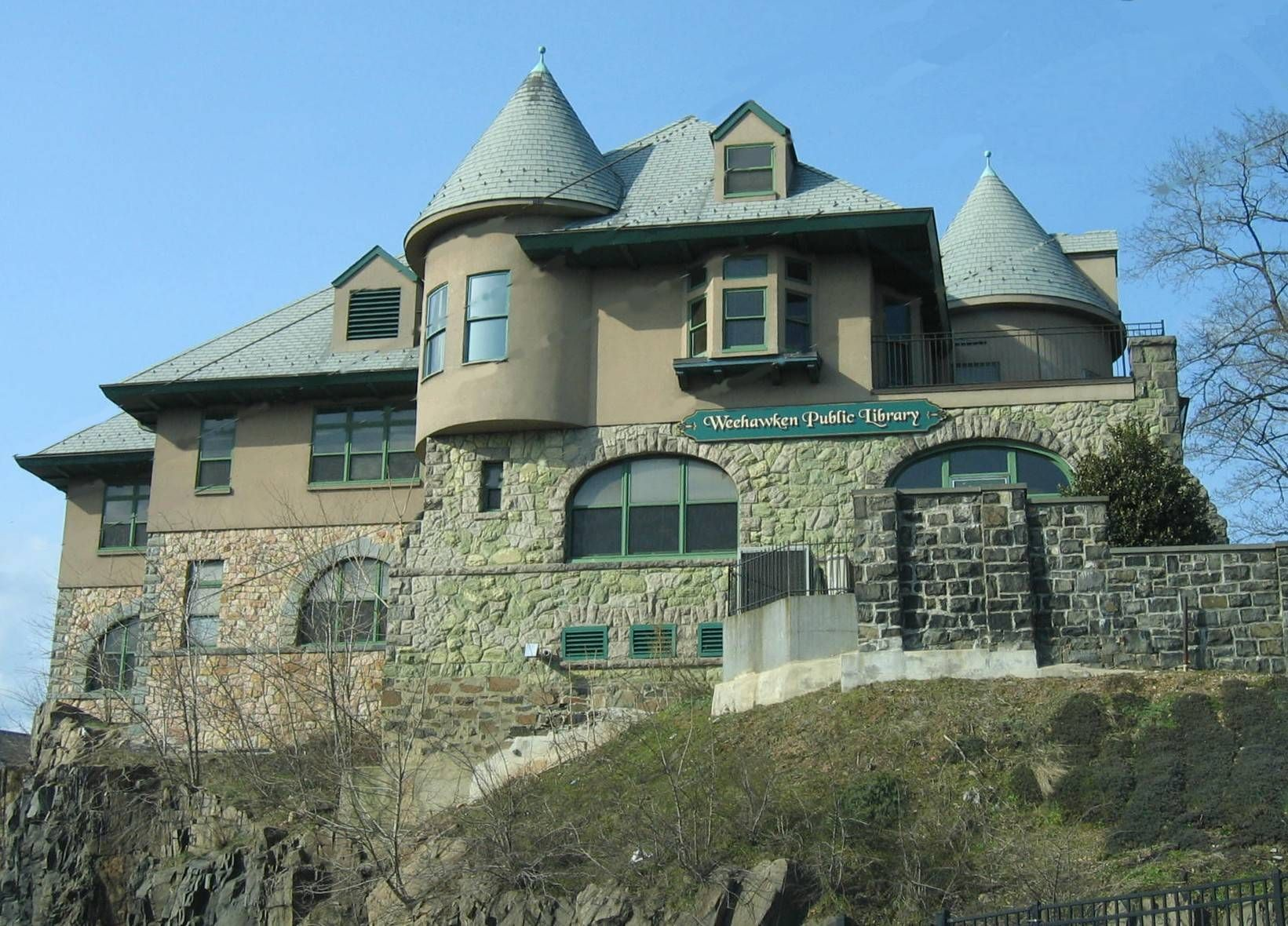 i am obsessed with this library in weehawken nj its on a rocky