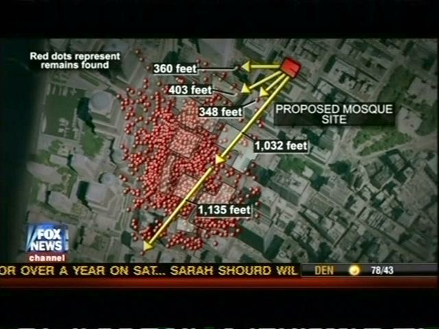 9 11 Parts   Fox & Friends shows map of 9-11 victim's