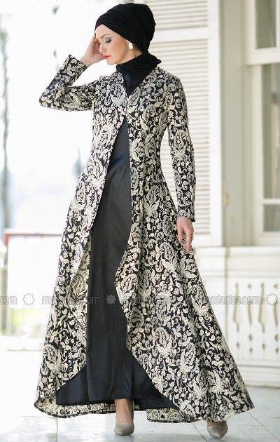 Model Baju Muslim Kaftan Elegan Gaun Pesta Dresses Hijab