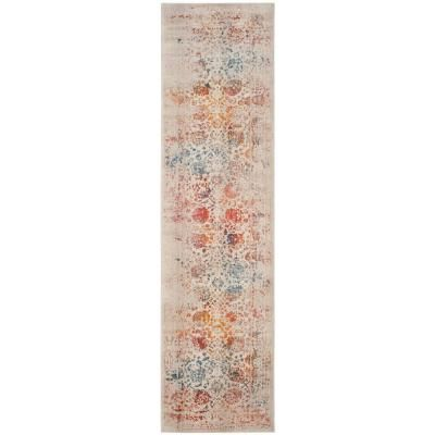 Safavieh Vintage Persian Light Gray Multi 2 Ft X 10 Ft Runner Rug Vtp409c 210 Traditional Area Rugs Classic Rugs Area Rugs