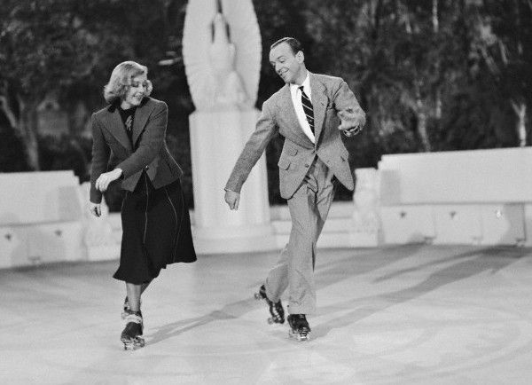 Fred Astaire Ginger Rogers Roller Skates Vintage Shall We Dance Fred Astaire