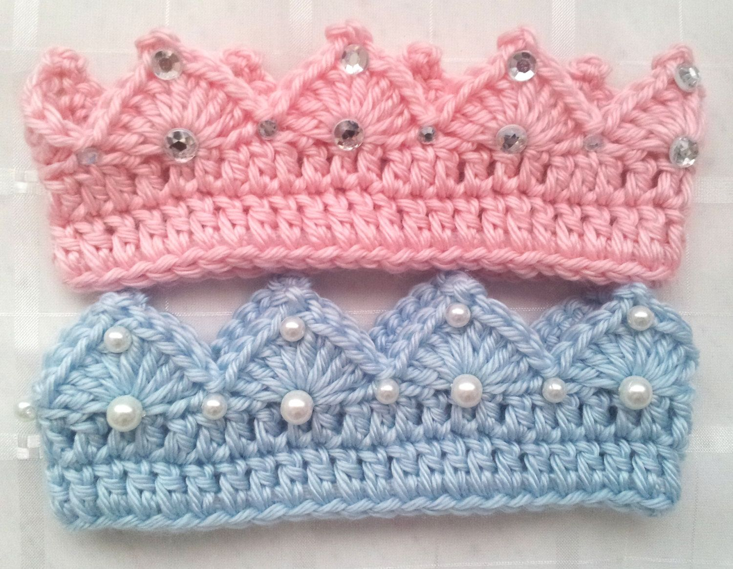 Crochet Prince or Princess Baby Crown with by BlackberryCrochet ...