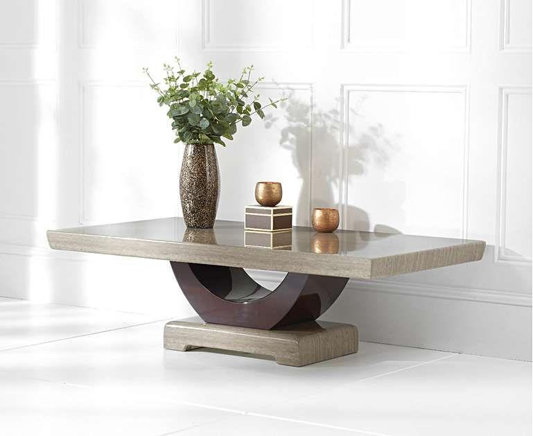 Raphael Brown Marble Coffee Table Coffee Table Oak Furniture