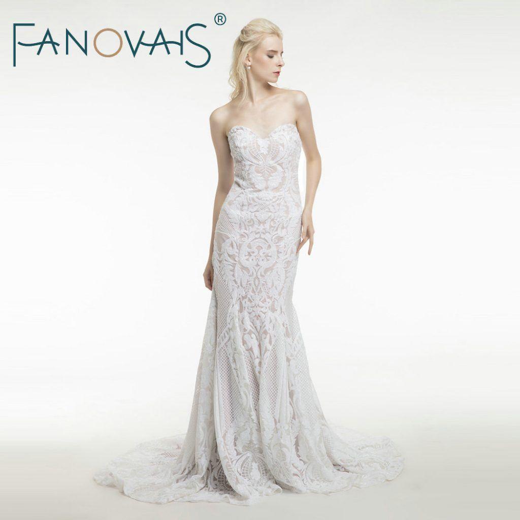 vintage lace mermaid wedding dress turkey vestido de novia sequin