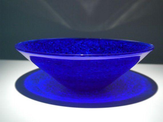 Cobalt Blue Hand Blown Glass Vessel SInk By FireDancersGlass, $900.00