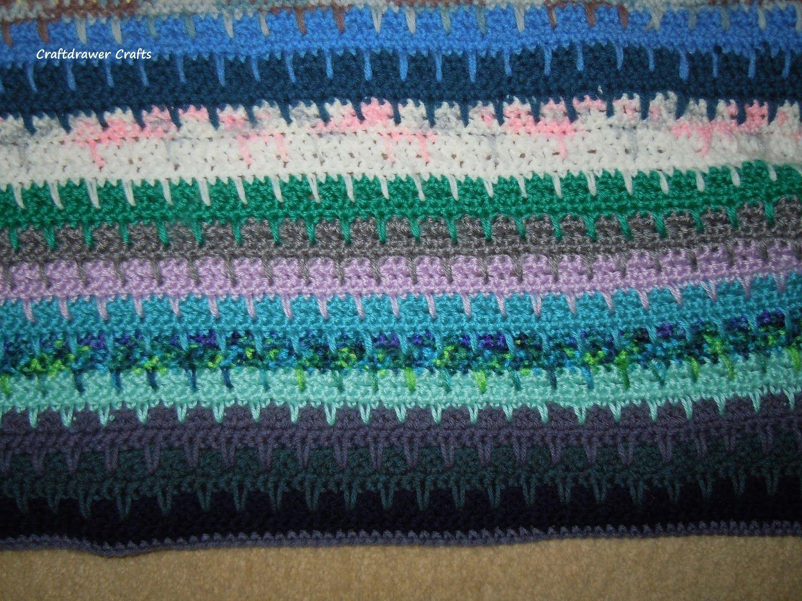 Free Crochet Pattern Easy to Crochet V-Stitch Scrap Yarn Afghan ...