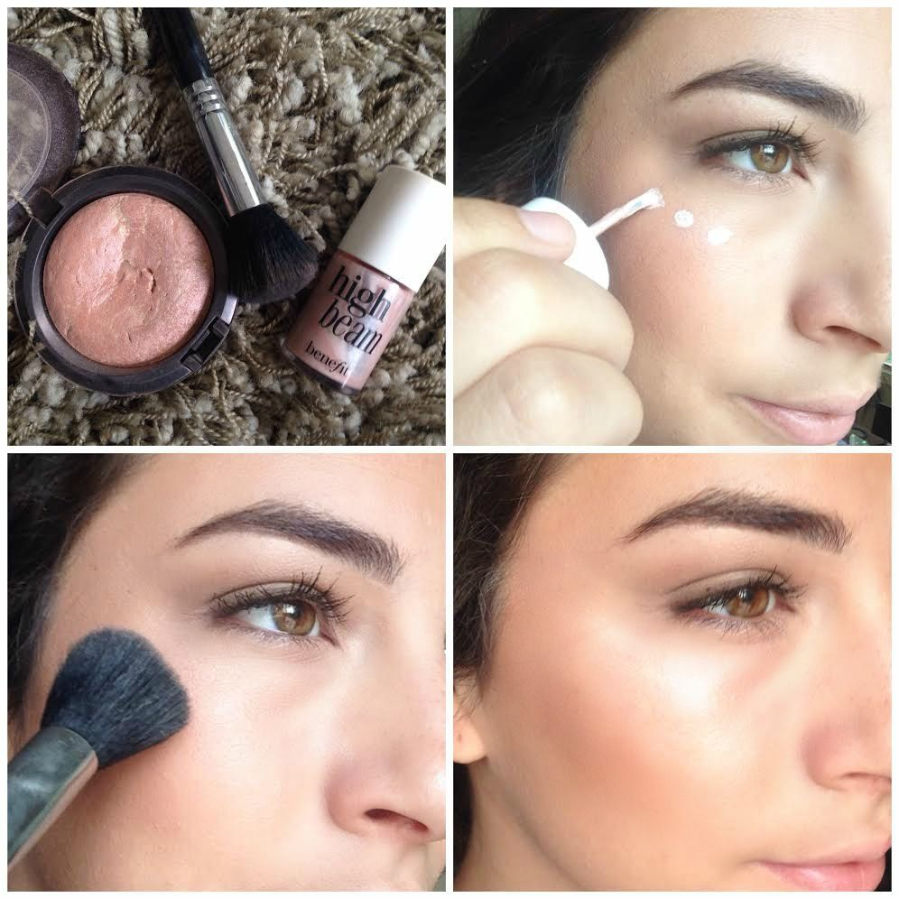 Easy How-to Highlight Cheekbones by Claire Ashley http://ultimakeover.com