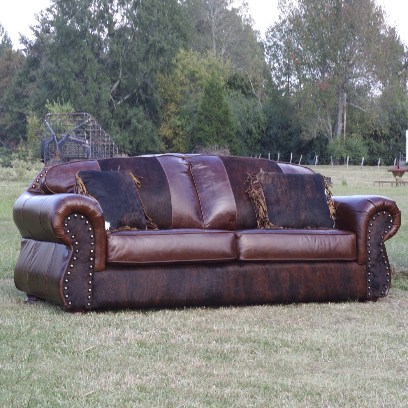 Country Road Furniture 1800S CHOCOLATE LEATHER Bunkhouse Sofa