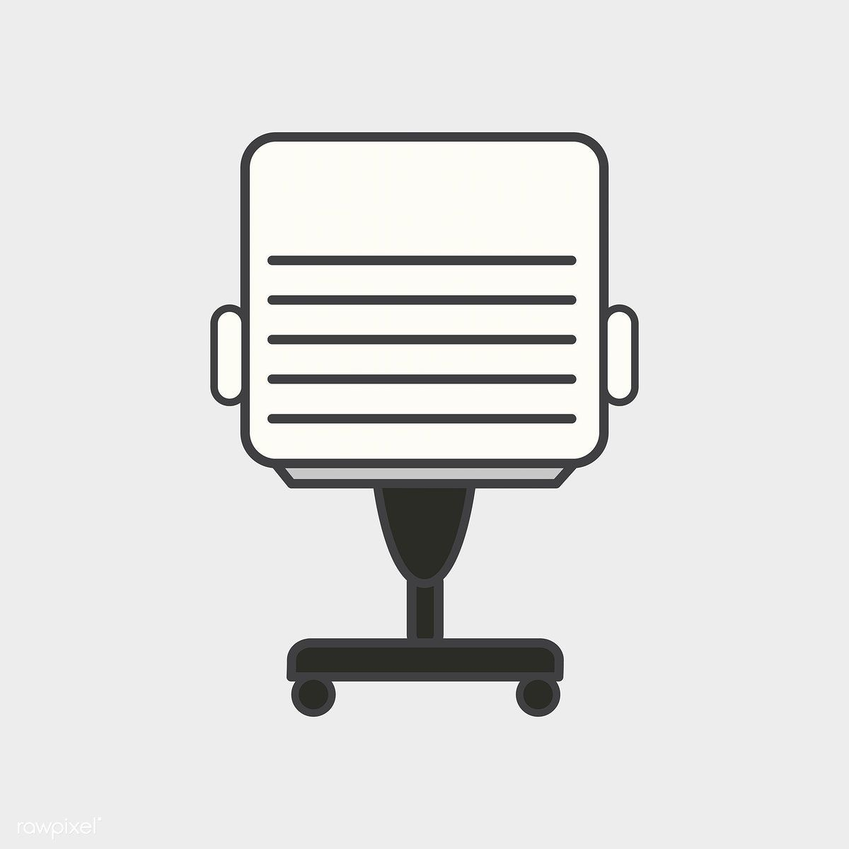 illustration of office chair icon free image by rawpixel com rh pinterest com Blueprint Icon Chair Icon Office Chair No Backgroujd