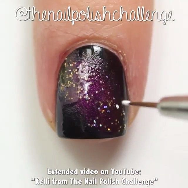 "Galaxy nails by @thenailpolishchallenge  Song: ""Do I Wanna Know"" by Arctic Monkeys"