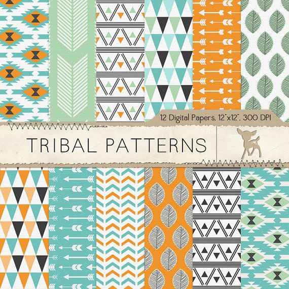 Tribal Digital Paper Tribal Scrapbook Paper Por Mydearmemories Digital Scrapbook Paper Digital Paper Scrapbook Paper