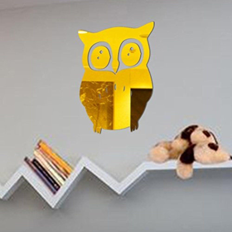 Wall Sticker, Hatop 3D Owl Mirror Vinyl Removable Wall Sticker Decal ...