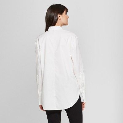 088d3dd5 Women's Long Sleeve Button-Down Collared Shirt - Prologue White L ...
