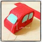 フェルトで作る乗り物おもちゃの作り方(自動車、トラック、バス)