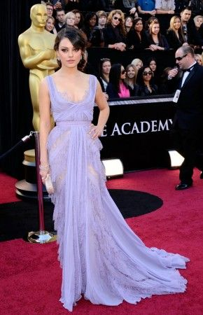 Mila kunis purple dress red carpet dress on oscar for sale - Designer red carpet dresses ...