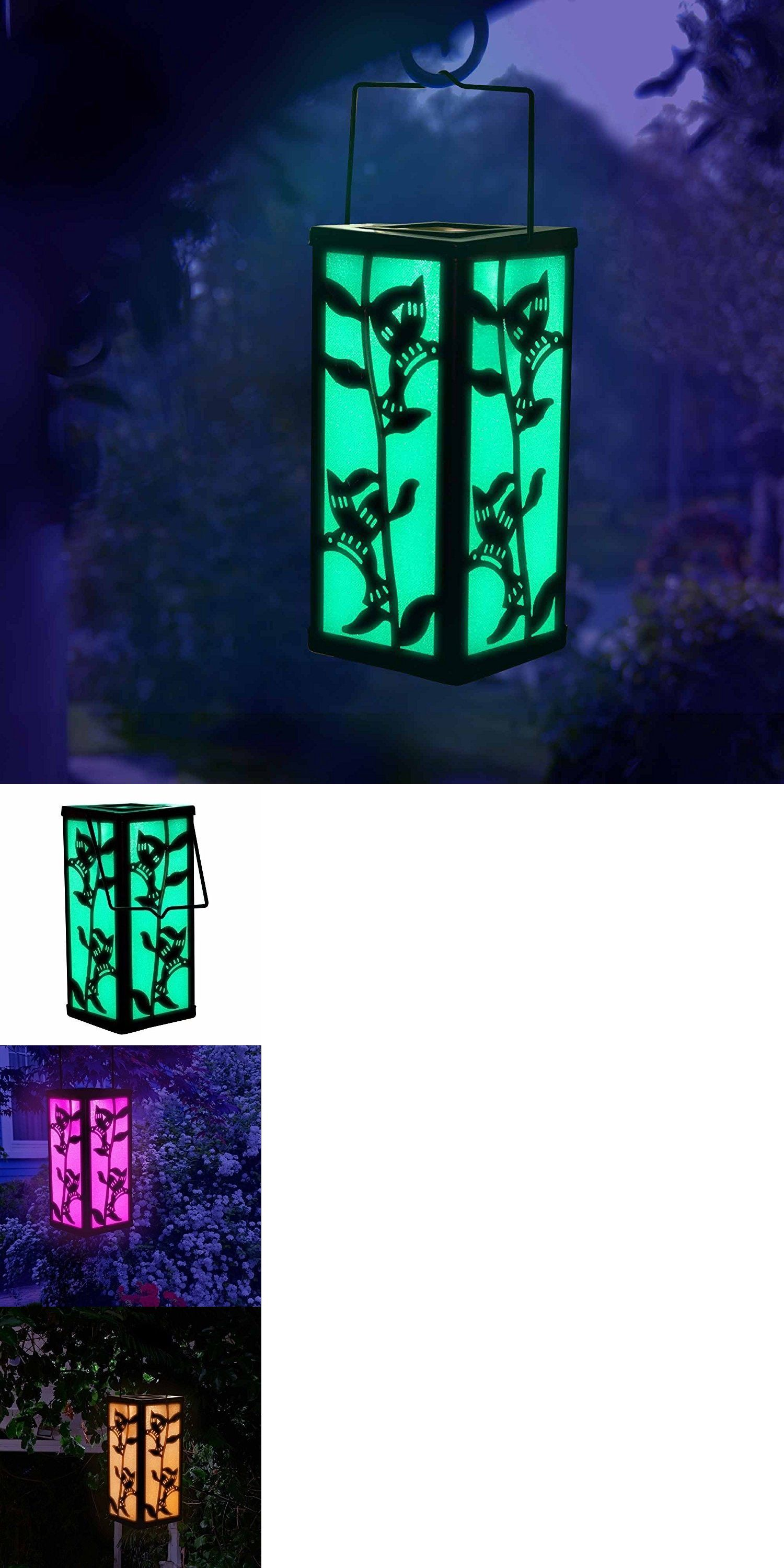 Hanging outdoor candle lanterns for patio - Outdoor D Cor Candle Lanterns 183392 Outdoor Hanging Lantern Solar Color Changing Patio Garden Lighting